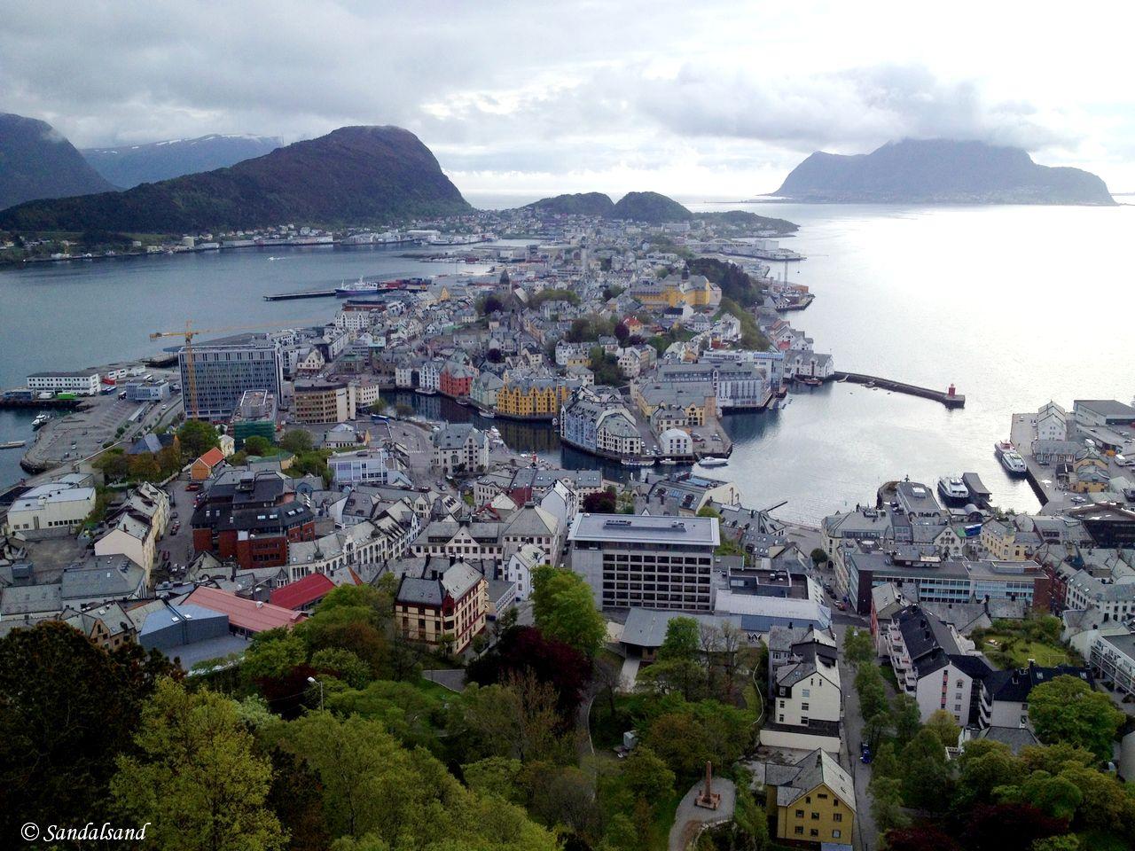 Møre og Romsdal - Ålesund - Utsikt fra Aksla