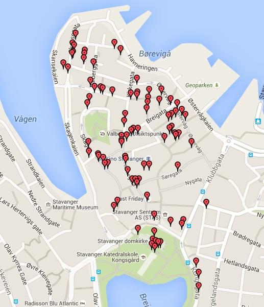 Map of door images