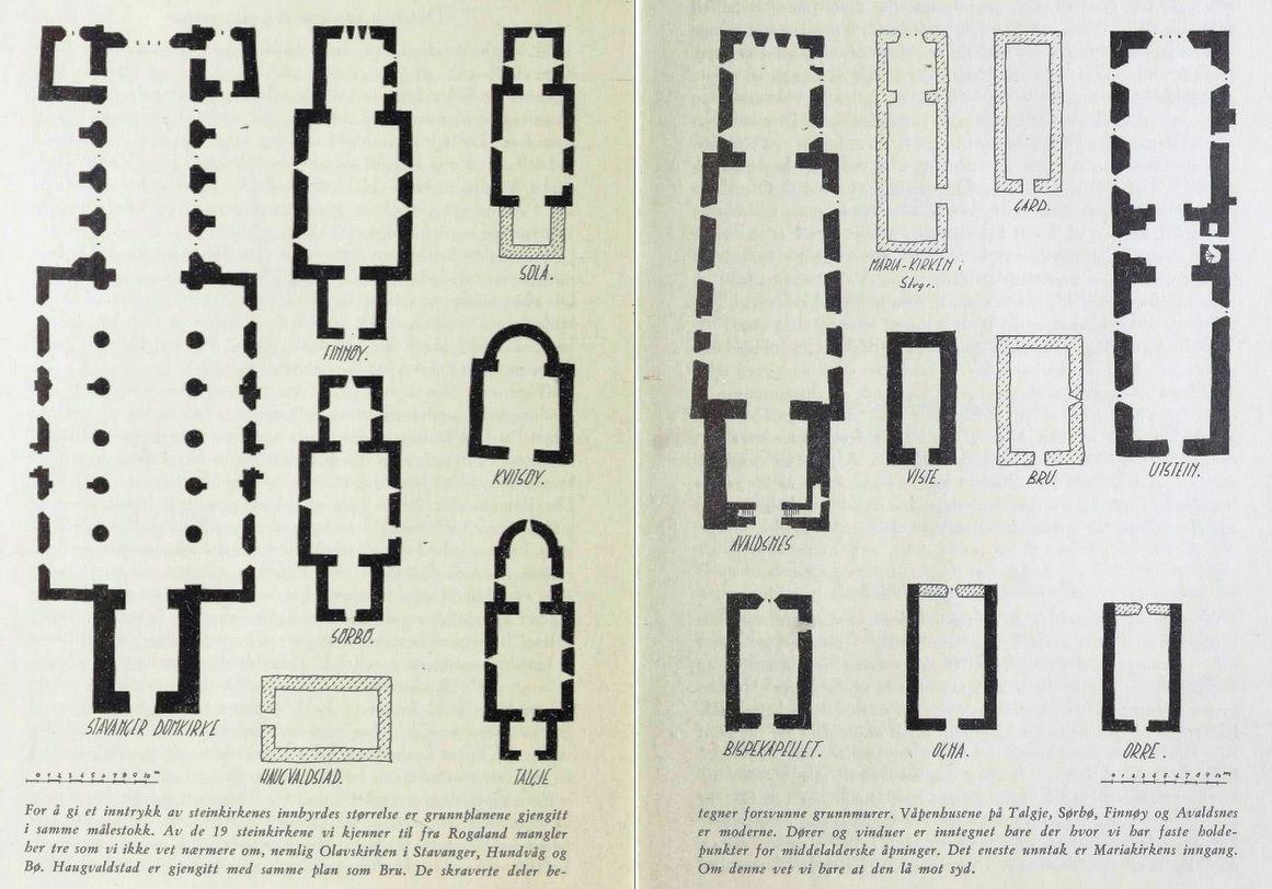 Lexow - Skisser av Rogalands middelalderkirker