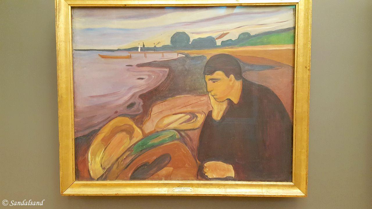 Hordaland - Bergen - KODE 3 - Rasmus Meyers samling - Melankoli av Edvard Munch