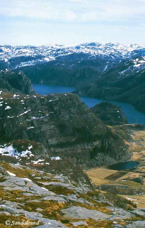 Rogaland - Bjerkreim - Utsikt fra Kyrkjefjellet mot Storavatnet