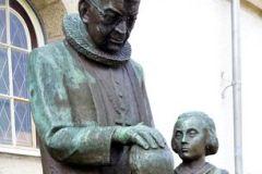 Rogaland - Stavanger - Skulptur - Johan Peter Lunde, ved Johannes kirke