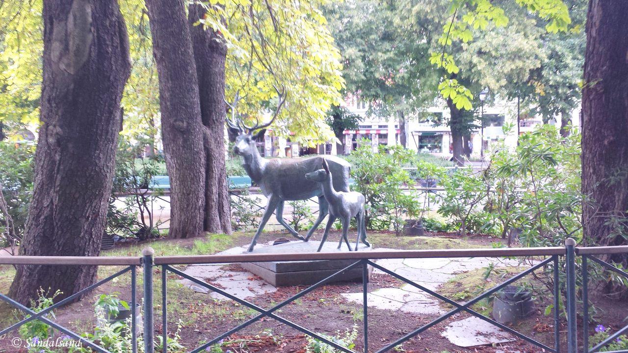 Oslo - Skulptur - Hjortegruppe, i Spikersuppa