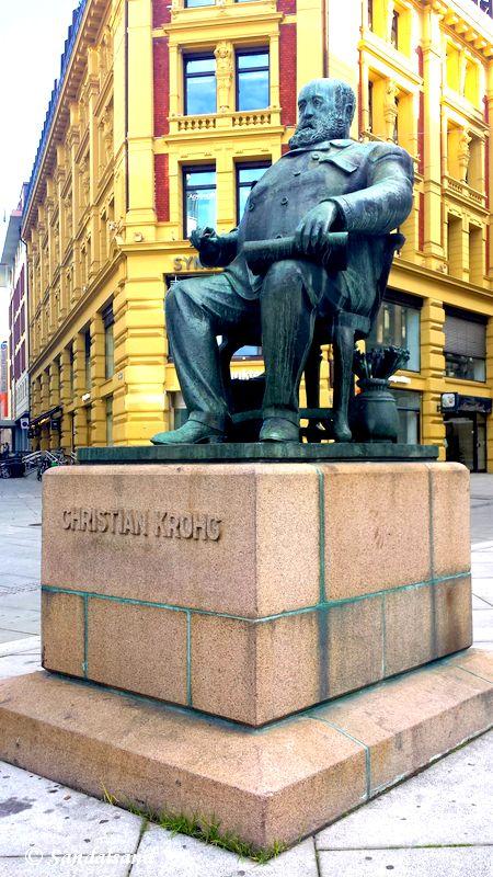 Oslo - Skulptur - Christian Krohg, Stortings plass
