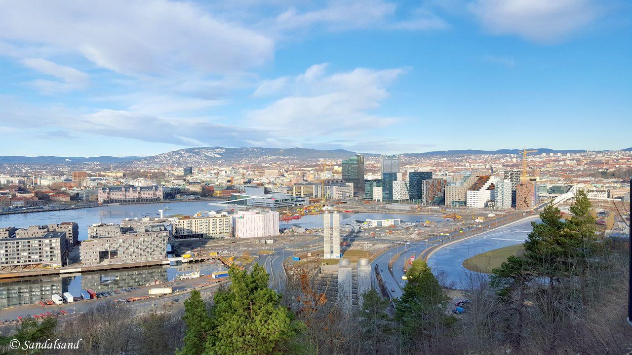 Oslo - Ekebergparken - Utsikt mot Bjørvika