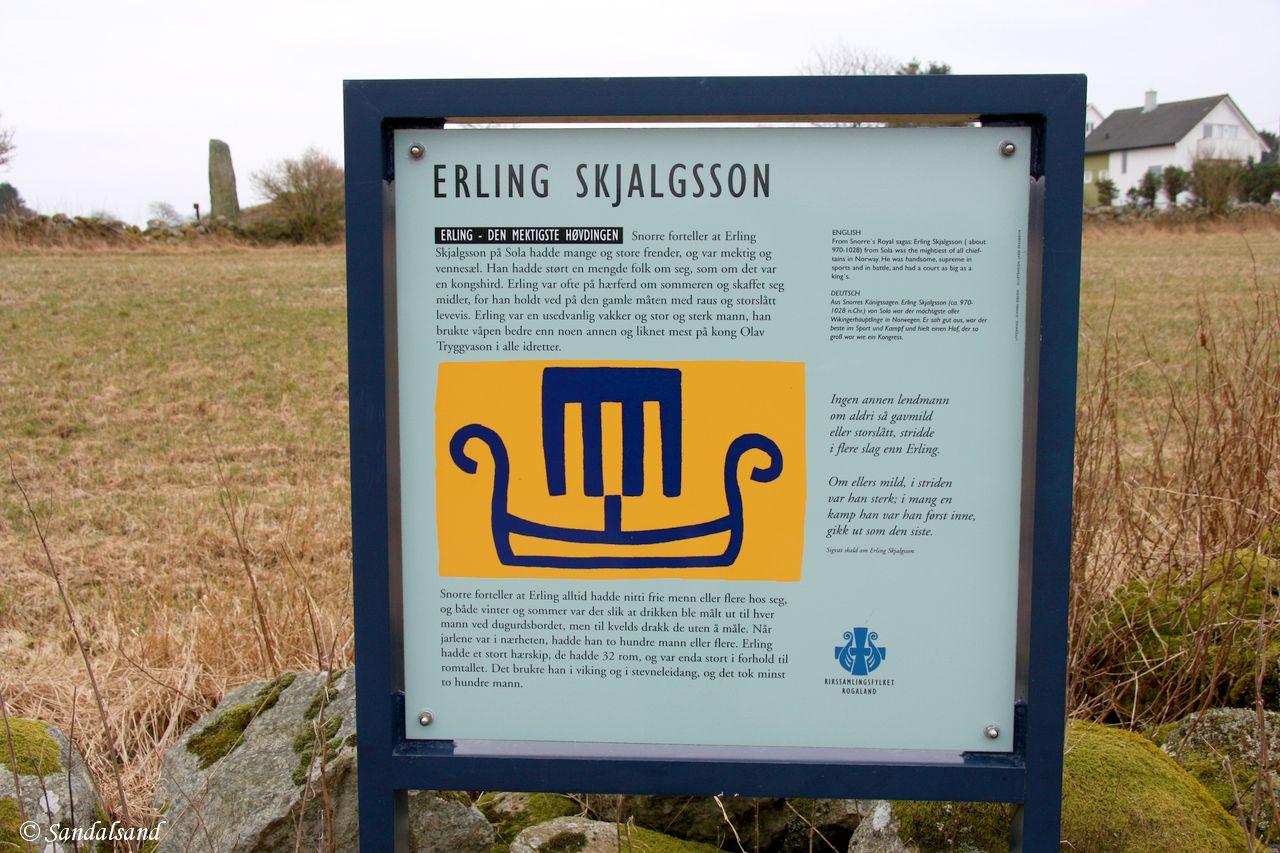 Rogaland - Sola - Risa - Erling Skjalgssons kvilestein