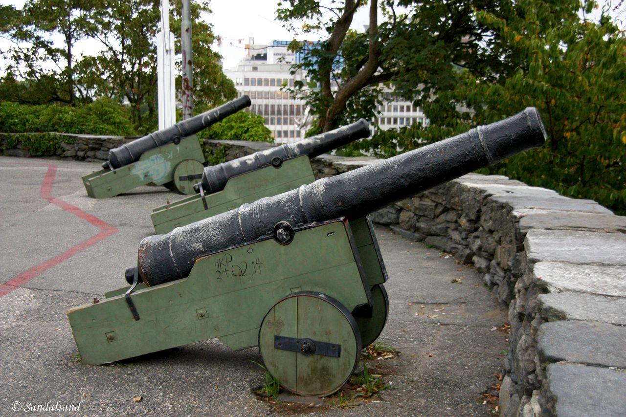 Rogaland - Stavanger - Kanoner ved Valbergtårnet