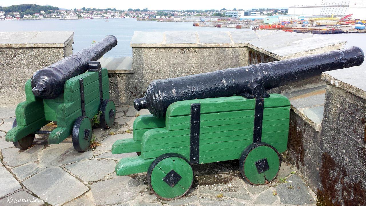Rogaland - Stavanger - Stavanger maritim-tekniske skole, Kalhammeren - kanoner