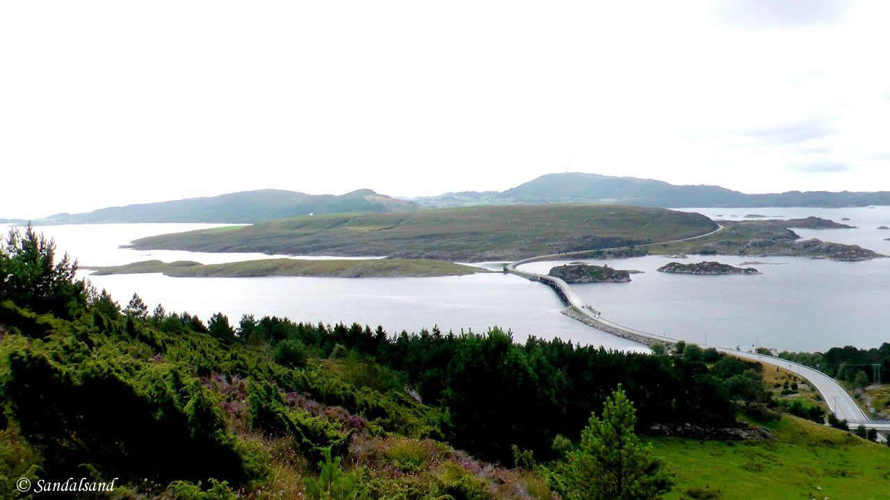 Rogaland - Tysvær - Utsikt fra Sandviksfjellet mot vest, Ognøy og Bokn