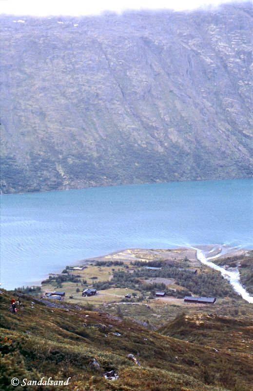 Oppland - Jotunheimen - Ned mot Memerubu og Gjende