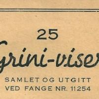 25 Grini-viser, et sanghefte fra 1945